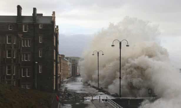 Aberystwyth University buildings hit by wave