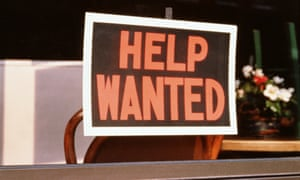 US money help wanted sign job