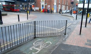 A baffling piece of cycle infrastructure in Romford, east London.