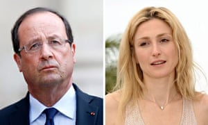 French President Hollande and actress Gayet