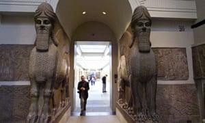 British Museum's Assyrian winged bulls