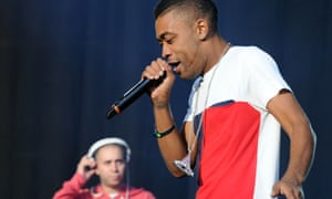 Wiley performing on stage