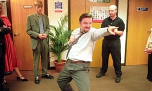 Ricky Gervais's monstrous creation David Brent shows off his dance moves in The Office.
