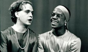 Tom Hollander as Celia and Adrian Lester as Rosalind in As You Like It