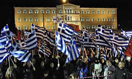Golden Dawn protests in front of Greek Parliament