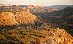 Palo Duro Canyon in Texas USA