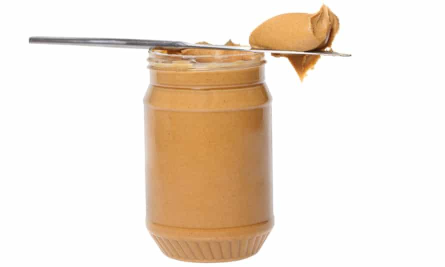 Jar of peanut butter