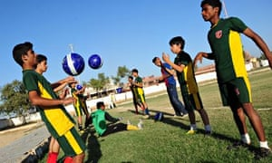 Pakistan team train for Street Child World Cup
