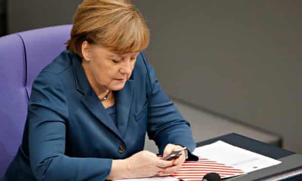 Angela Merkel on a Nokia slide