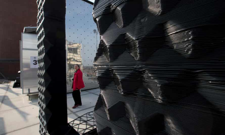 3D-printed house … The future of volume house-building, or a novelty technology for temporary pavilions?
