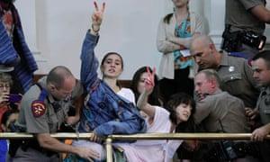 texas abortion protest austin wendy davis