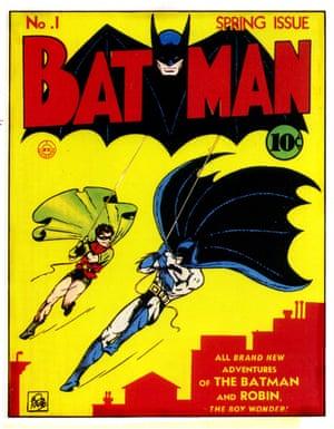 The first Batman comic cover.