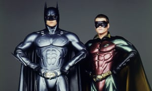 Val Kilmer & Chris O'Donnell as Batman & Robin   in Batman Forever (1995). Directed by Joel Schumacher