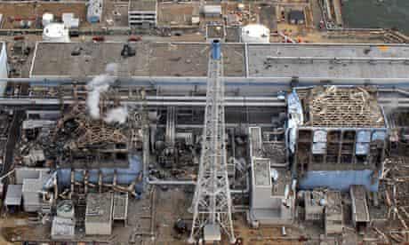 Damaged reactors at Fukushima in Japan in 2011