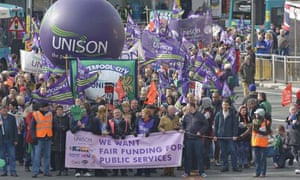 Thousands marched through Liverpool in March in protest against cuts to services