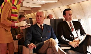John Slattery as Roger Sterling and Jon Hamm as Don Draper in the final season of Mad Men