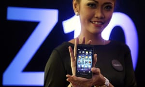 The BlackBerry Z10 was launched in January 2013 - so how much is it used by people who download and buy apps?
