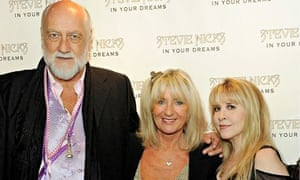 Centre stage … Christine McVie, with bandmates Mick Fleetwood, left, and Stevie Nicks, right.