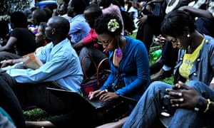 Ugandan woman with laptop