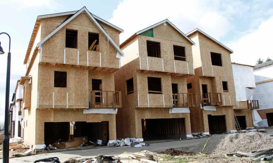 Homes under construction in Portland, Oregon. Would-be buyers risk being crowded out by the run-up in home prices and mortgage rates over the past year.