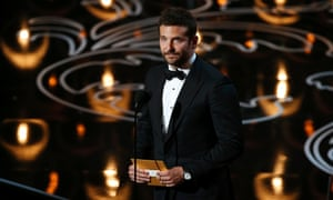 Bradley Cooper presenting the Oscar for best documentary