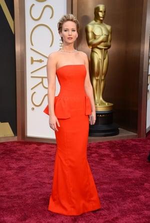 Oscars 2014 red carpet: Jennifer Lawrence