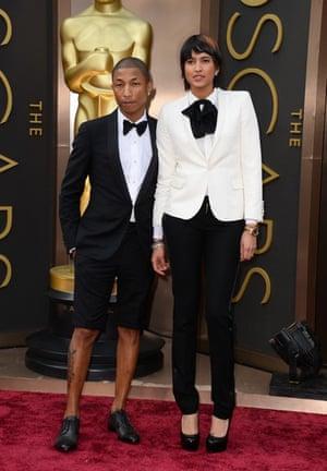 Oscars 2014 red carpet: Pharrell Williams, Helen Lasichanh