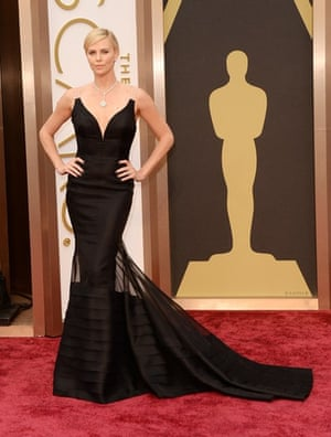 Oscars 2014 red carpet: Charlize Theron