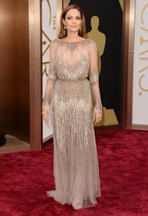 Oscars 2014 red carpet: Angelina Jolie