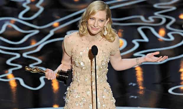Guardian Oscars Cate Blanchett accepts award