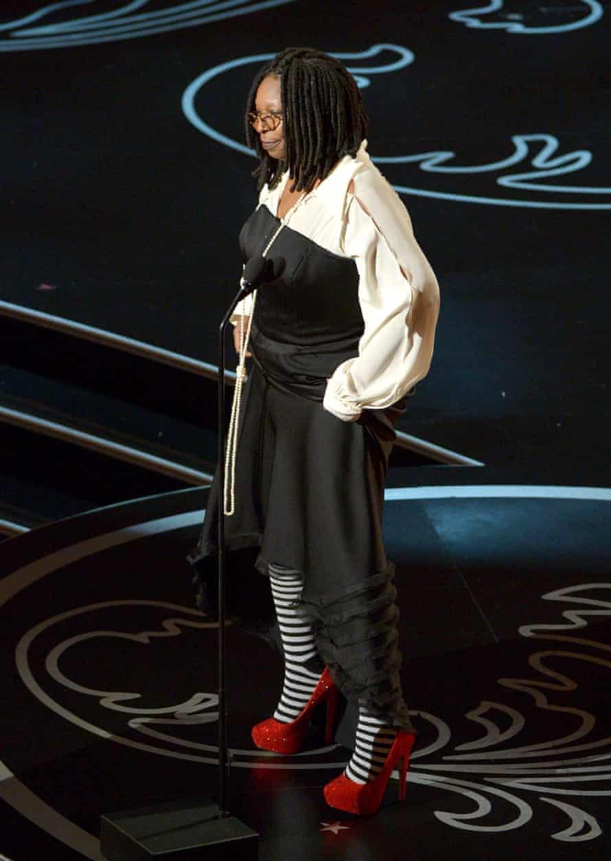 Whoopi Goldberg at the Oscars.