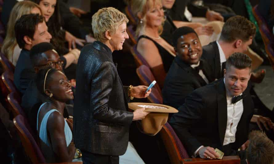 Lupita Nyong'o, Ellen DeGeneres and Brad Pit.