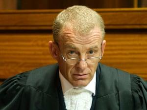 Prosecutor Gerrie Nel during Oscar Pistorius's bail hearing