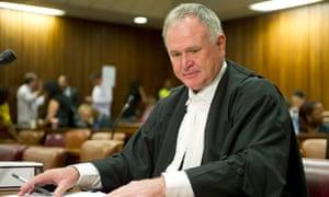 Oscar Pistorius's defence counsel, Barry Roux