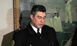Ukrainian navy chief Denis Berezovsky swears allegiance to the pro-Russian Crimea authorities