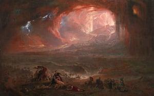 John Martin The Destruction of Pompei and Herculaneum 1822, restored 2011.