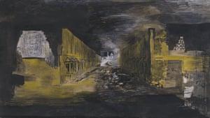 Graham Sutherland Devastation, 1941: East End, Burnt Paper Warehouse 1941.