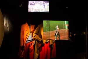 Video installations at Dries Van Noten's exhibition.