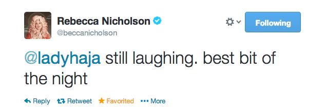becca's tweet