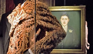 Proust and leopard print at Van Noten exhibition.