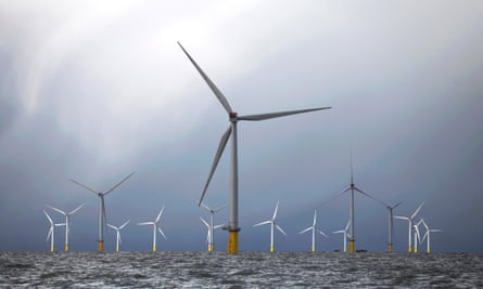 Wind turbines at the London Array project, the world's largest consented wind farm