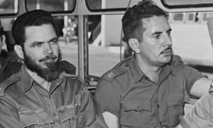 Huber Matos, left with beard, in 1959.
