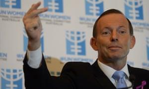Prime Minister Tony Abbott addresses the International Women's Day Parliamentary Breakfast.