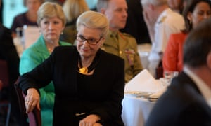Speaker Bronwyn Bishop and Christine Milne at the womens day brekkie.