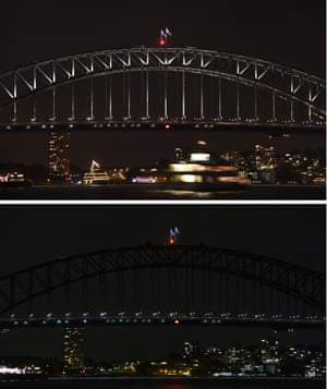 Sydney Harbour Bridge Earth Hour
