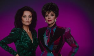 1986:  Kate O'Mara as Cassandra Morrell and Joan Collins as Alexis Colby in Dynasty.