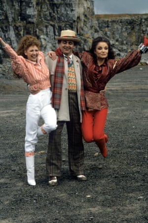 1987: Bonnie Langford, Sylvester McCoy and Kate O'Mara in Dr Who.