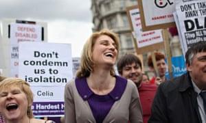 Demonstrators on the Hardest Hit march