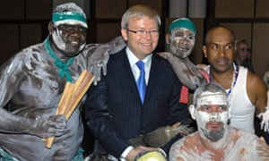 Kevin Rudd after his landmark apology to the Stolen Generations.