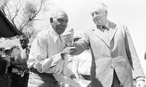 Gough Whitlam and Vincent Lingiari, 26 August 1975. Photograph: portrait.gov.au